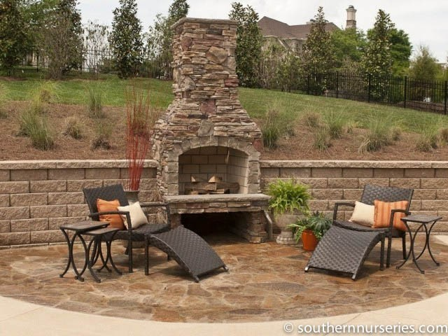 Outdoor fireplaces hardscapes southern nurseries for Where to buy outdoor fireplace