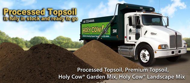 Premium Topsoil, Holy Cow® Topsoil®, Holy Cow® Garden Mix, Holy Cow® Landscape Mix